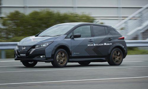 Nissan creates dual-motor LEAF test car, AWD with 227kW