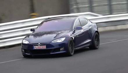 Tesla Model S returns to Nurburgring, benchmark timing (video)