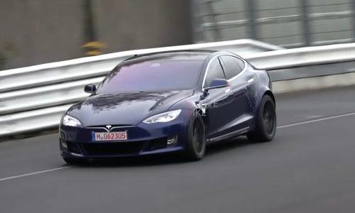 Tesla Model S returns to Nurburgring, benchmark timing (video)