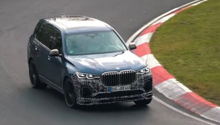 Alpina XB7 prototype spotted, sailing around Nurburgring (video)