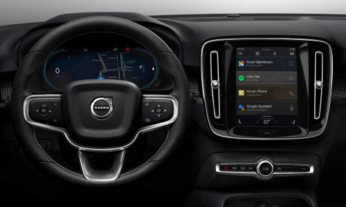 Volvo XC40 electric debuts new Android/Google infotainment system