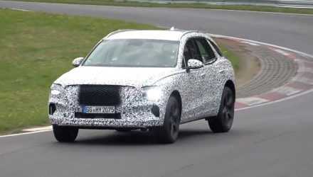 2021 Genesis GV70 spied at Nurburgring, wearing production body? (video)