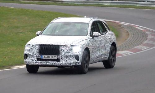 2021 Genesis GV70 spied at Nurburgring, wearing production body? (video)