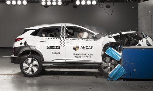Hyundai Kona Electric earns 5-star ANCAP safety, first EV crash tested
