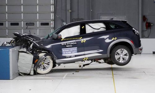 Hyundai NEXO rated highly in first crash test for hydrogen vehicle
