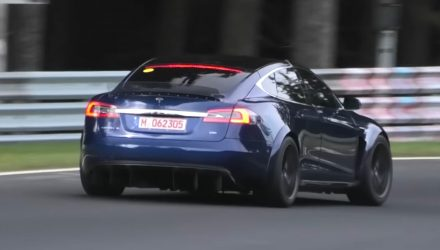 Tesla Model S 'Plaid' testing continues, pushing hard at Nurburgring (video)