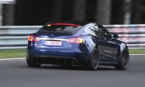 Tesla Model S 'Plaid' testing continues, pushing hard at Nurburgring (video)