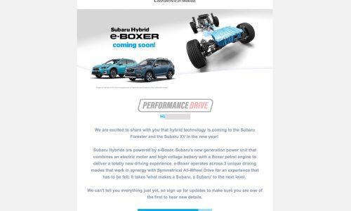 Subaru Australia confirms hybrid Forester, XV 'e-Boxer' for 2020