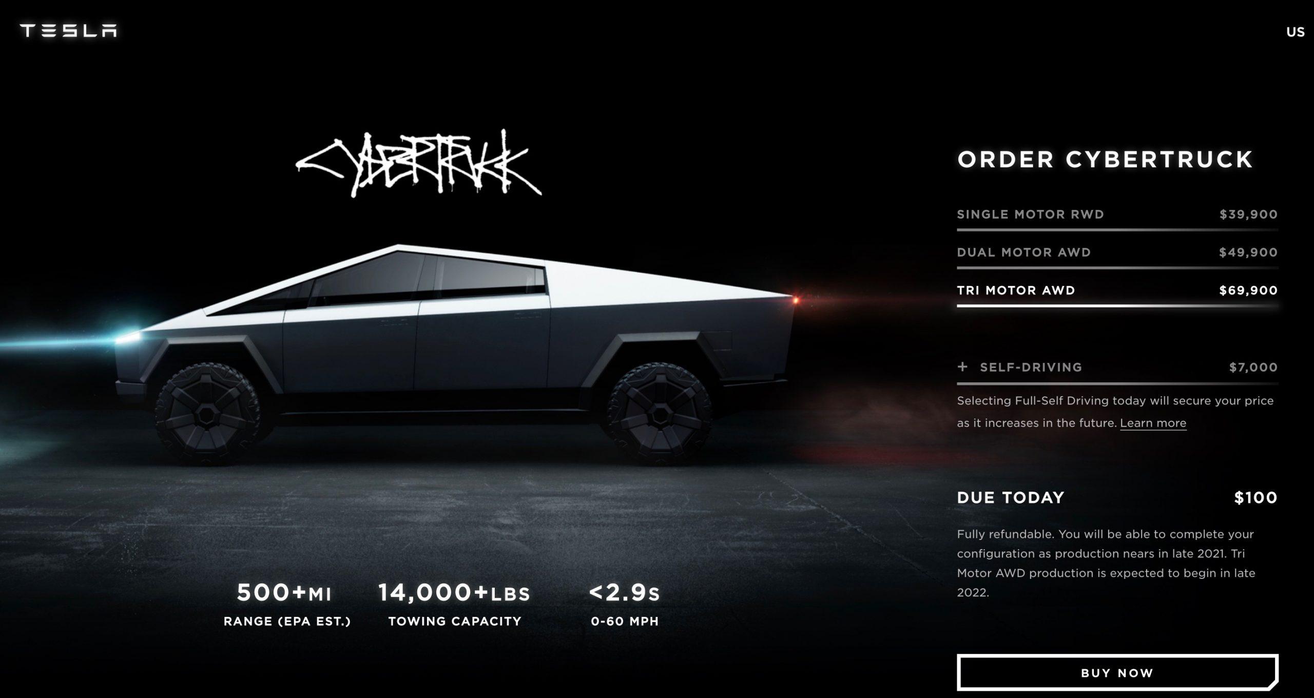 Range Rover Truck >> Tesla Cybertruck unveiled; tri-motor, 800km-plus range | PerformanceDrive