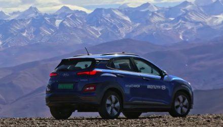 Hyundai Kona Electric sets highest altitude world record in Tibet