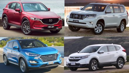 Top 10 best-selling SUVs in Australia in 2019