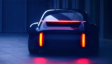 Sporty Hyundai 'Prophecy' EV concept previewed, debuts at Geneva