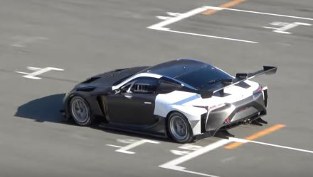 Lexus LC prototype spotted testing new twin-turbo V8 (video)