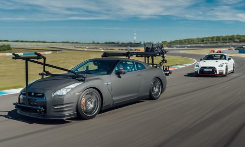 Stunt driver uses Nissan GT-R as camera car for Nismo film (video)