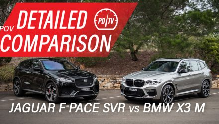 Video: 2020 BMW X3 M vs Jaguar F-PACE SVR – Detailed comparison (POV)