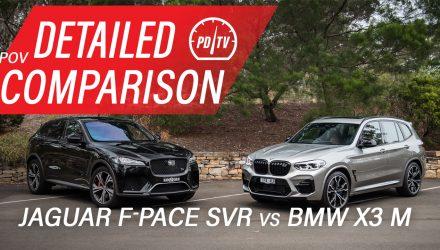 Video: 2020 BMW X3 M vs Jaguar F-PACE SVR – Detailed comparison (POV)