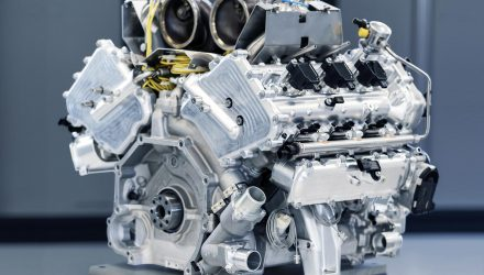 Aston Martin reveals new twin-turbo V6, debuts in Valhalla (video)