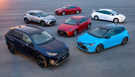 2019 Toyota Hybrid Australian vehicle range