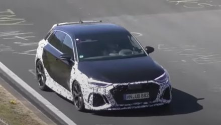 2021 Audi RS 3 spotted, pushing hard at Nurburgring (video)