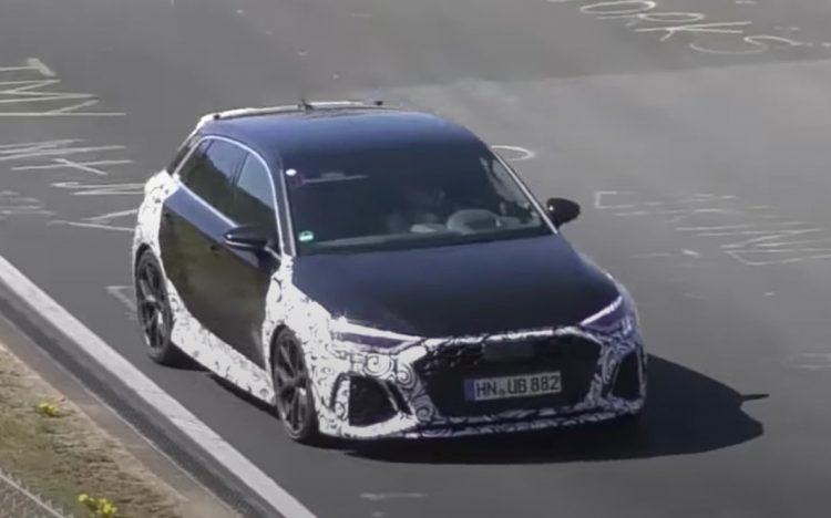 2021 Audi RS 3 spotted, pushing hard at Nurburgring (video ...