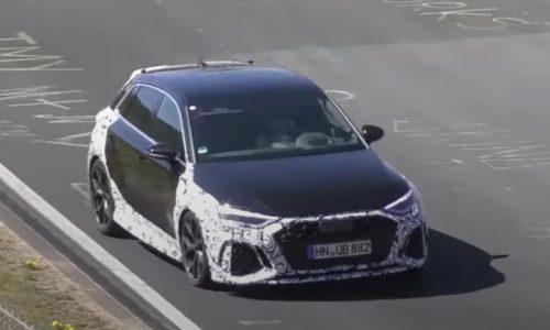 2021 Audi RS 3 spotted, pushing hard at Nurburgring (video)
