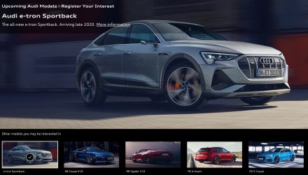 "Audi Australia website confirms e-tron Sportback in ""late 2020"""