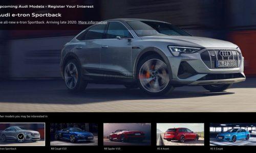 "Audi Australia website confirms e-tron Sportback in ""late 2020"""