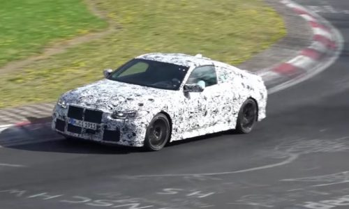 2021 BMW M4 prototype spotted testing, with new 4 Series (video)