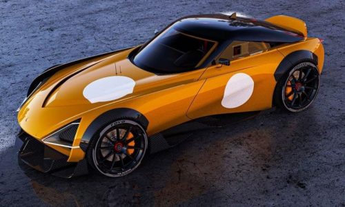 2022 Nissan Z car '400Z' rendered, infuses retro 240Z themes