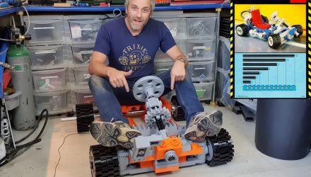 Life-size Lego Technic go-kart build