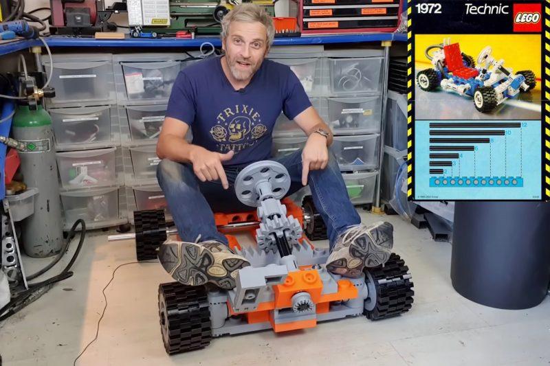 Life-size Lego Technic go-kart build