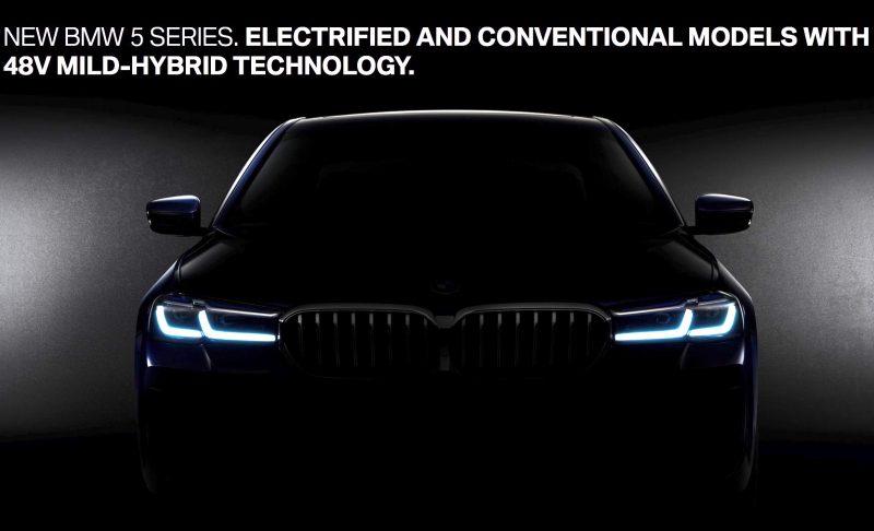 2021 BMW 5 Series facelift teaser