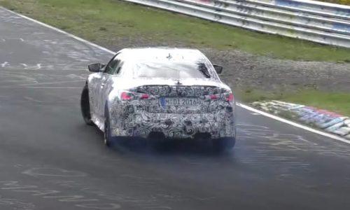 2021 G82 BMW M4 prototypes spotted, pushing hard at Nurburgring (video)