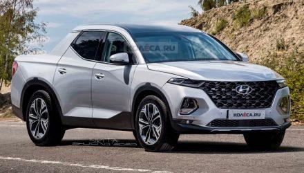 2021 Hyundai Santa Cruz pickup renderings-front grille