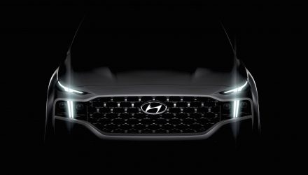 2021 Hyundai Santa Fe headlights preview
