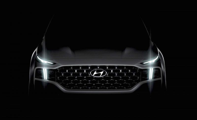 2021 Hyundai Santa Fe headlights preview