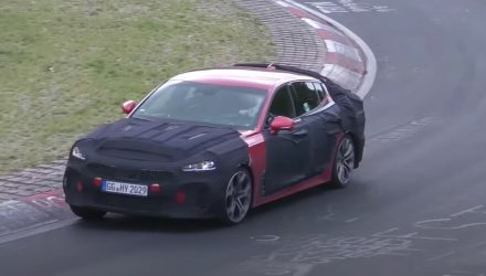 2021 Kia Stinger facelift spotted testing at Nurburgring (video)