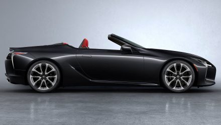 2021 Lexus LC convertible-black