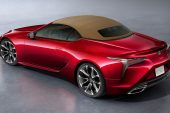 2021 Lexus LC convertible-rear roof