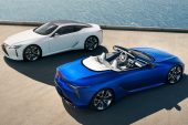 2021 Lexus LC coupe and convertible