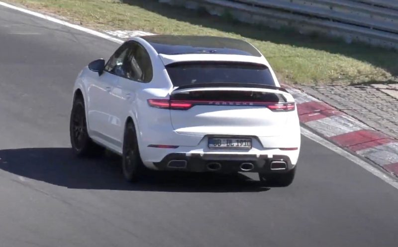 2021 Porsche Cayenne Coupe GTS prototype - rear