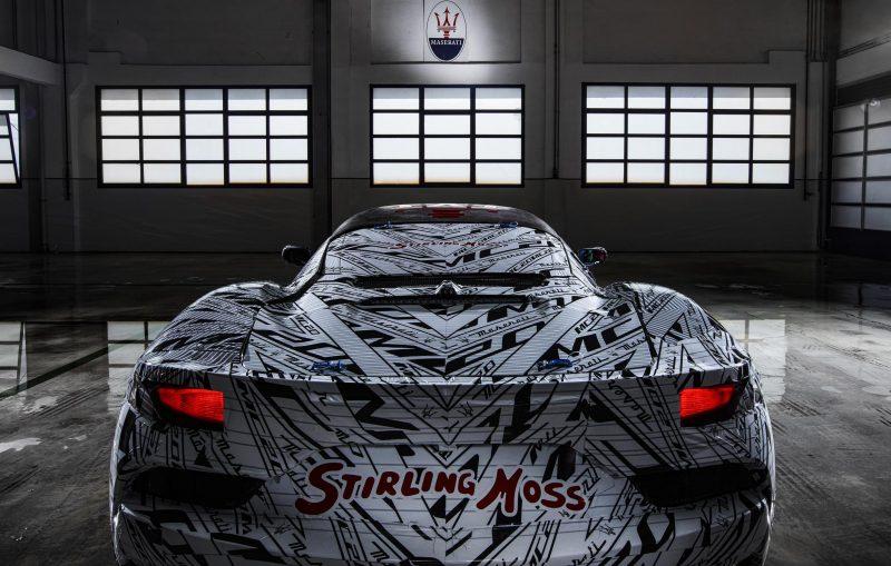 Maserati MC20 prototype teaser-rear