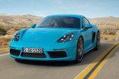 2018 Porsche 718 Cayman-blue