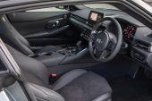 2019 Toyota GR Supra GTS Nurburg Matte Grey alcantara interior.