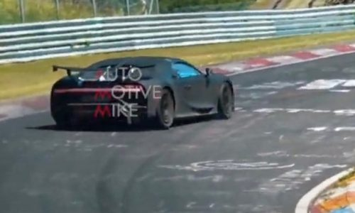 Bugatti Chiron Pur Sport spotted testing at Nurburgring, epic speed (video)
