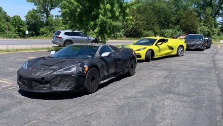 Chevrolet C8 Corvette prototypes spotted with new flat-plane V8, Z06 and ZR1? (video)