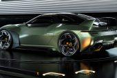 2024 Mitsubishi 4000GT rendering Matthew Parsons-green back