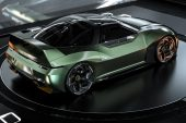 2024 Mitsubishi 4000GT rendering Matthew Parsons-green rear