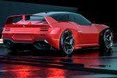 2024 Mitsubishi 4000GT rendering Matthew Parsons-red rear