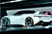 2024 Mitsubishi 4000GT rendering Matthew Parsons-white rear